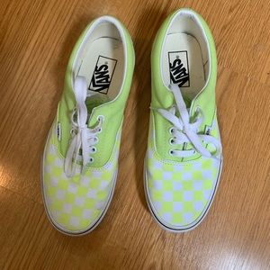 VANS // Neon Checker Shoe